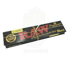 RAW Papel Connoisseur Black King Size Slim Classic + Tips
