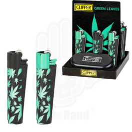 Clipper Metal Leaves Green